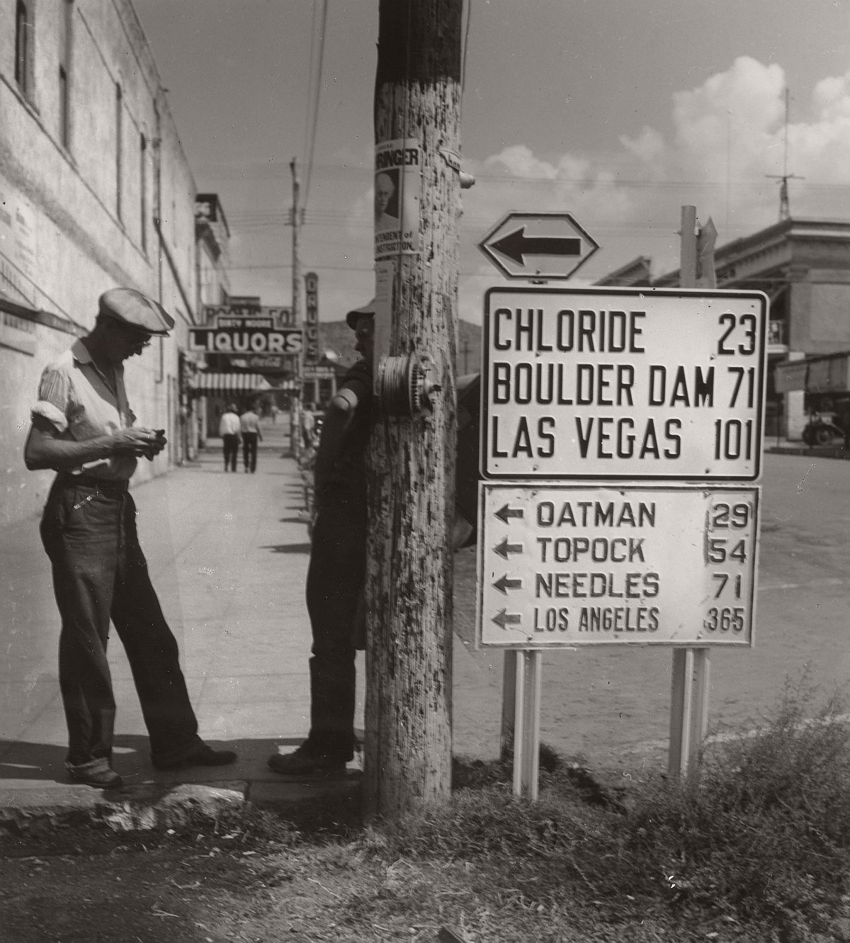 Robert Haas: Street scene, United States, 1940 © Wien Museum/Sammlung Robert Haas