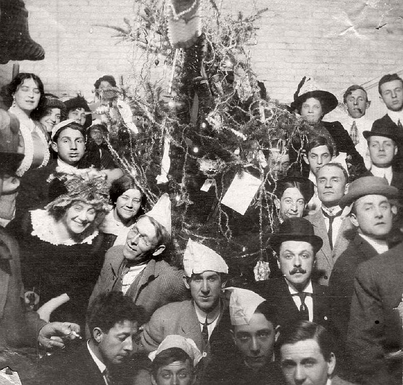 A New Year's party, ca. 1910s