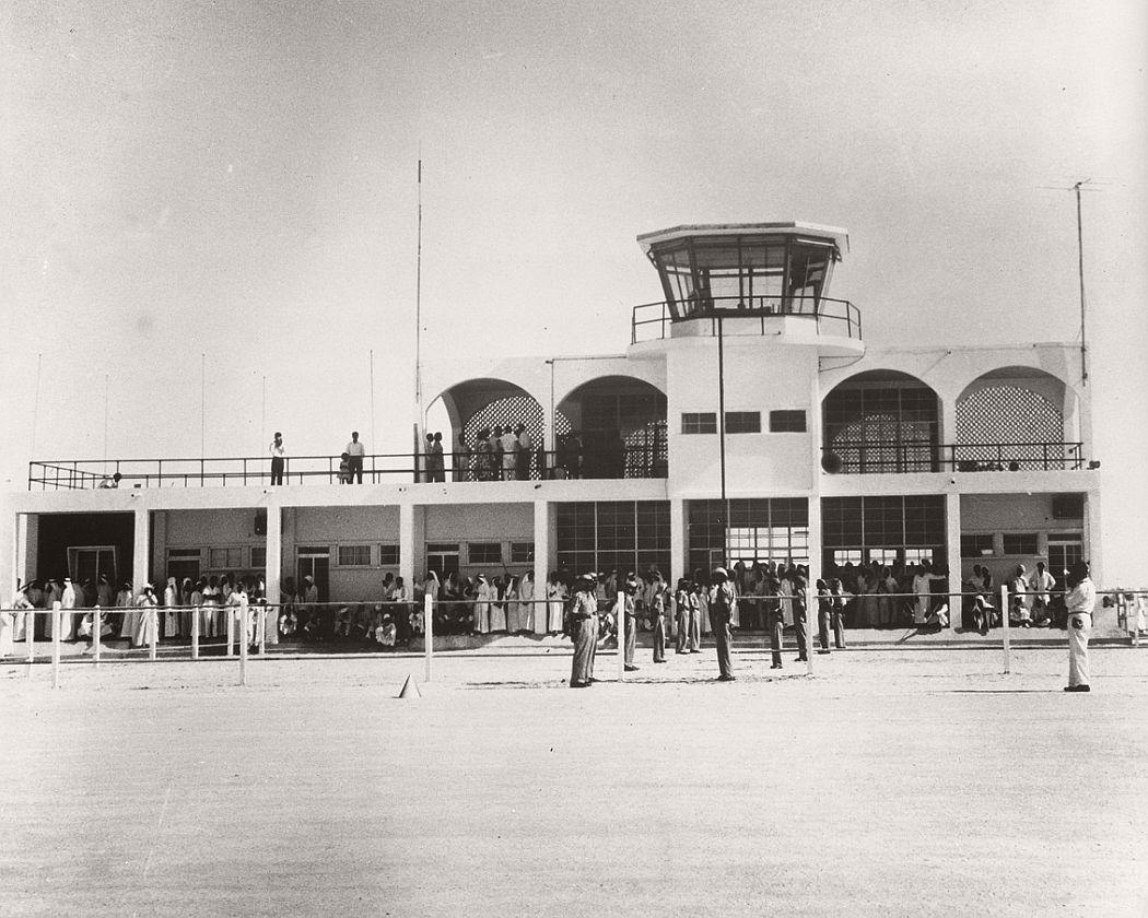 Dubai airport, ca. 1960s