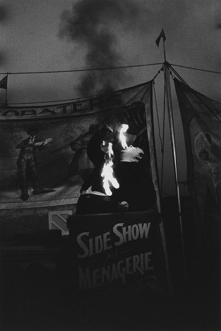 Diane Arbus Fire Eater at a carnival, Palisades Park, N.J. , 1957