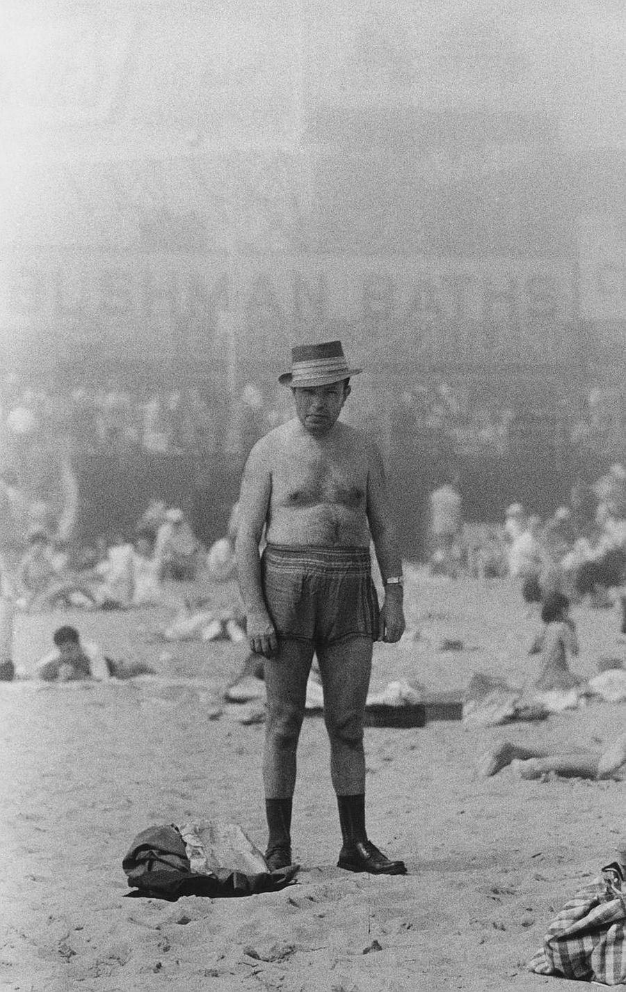Diane Arbus, Man in hat, trunks, socks and shoes, Coney Island, N.Y. , 1960