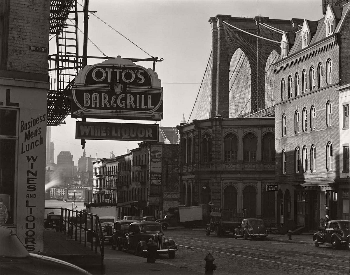 "Edward Weston, ""The Brooklyn Bridge"" (1941), Huntington Library, Art Collections, and Botanical Gardens, © 1981 Center for Creative Photography, Arizona Board of Regents"