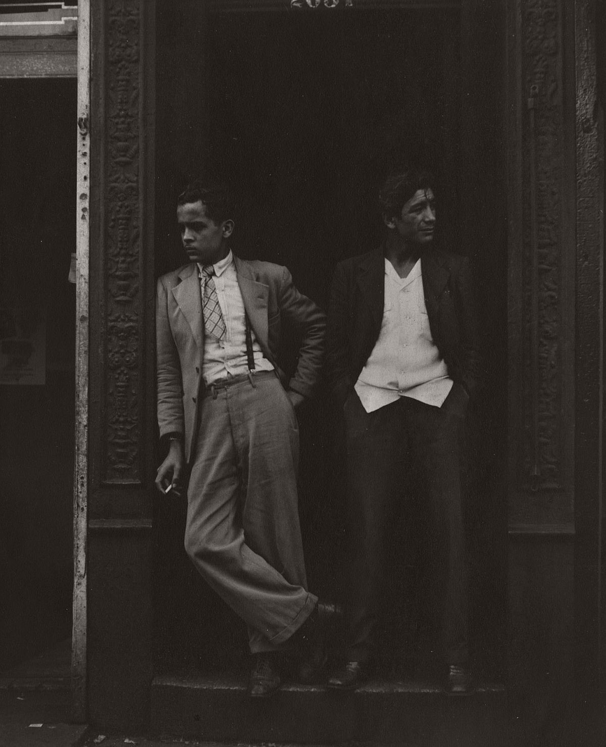 Two Men in Doorway, 1948