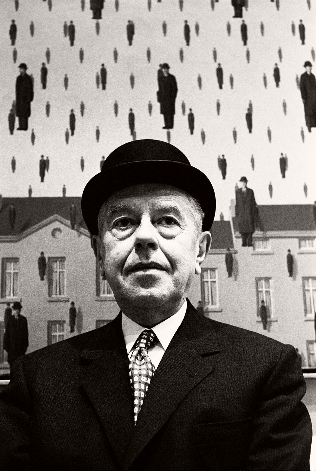 Steve Schapiro René Magritte at MOMA, 1965