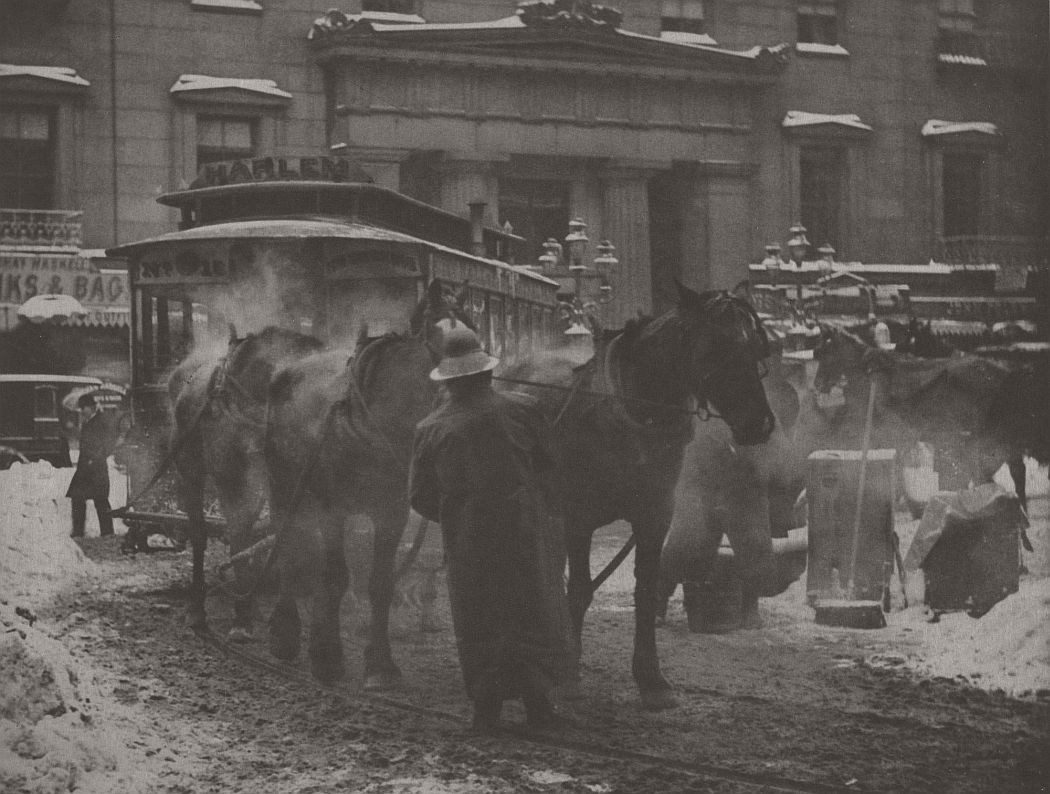 Alfred Stieglitz (American, 1864–1946). The Terminal. 1893. Photogravure, 10 × 13 3/16″ (25.4 × 33.5 cm). The Museum of Modern Art, New York. Promised gift of Robert B. Menschel. © 2016 Estate of Alfred Stieglitz/Artists Rights Society (ARS), New York