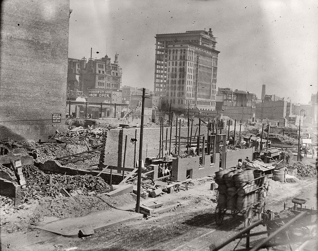 Baltimore's tallest building, the Continental Trust Building after the fire, 1904