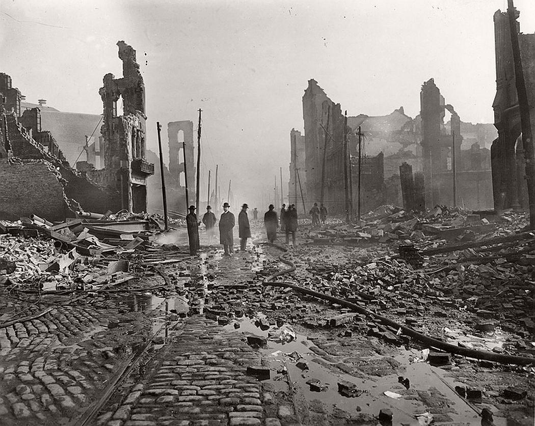East of Baltimore and Liberty Streets after the 1904 fire