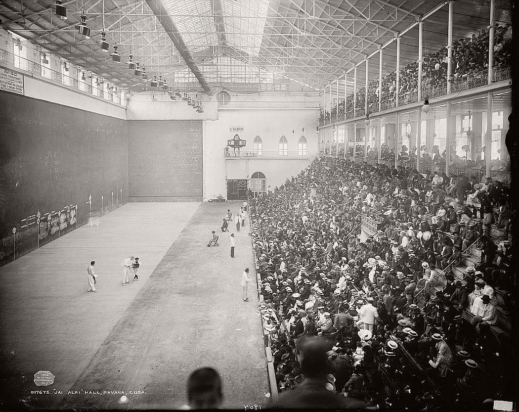 Jai Alai hall, Havana, 1904