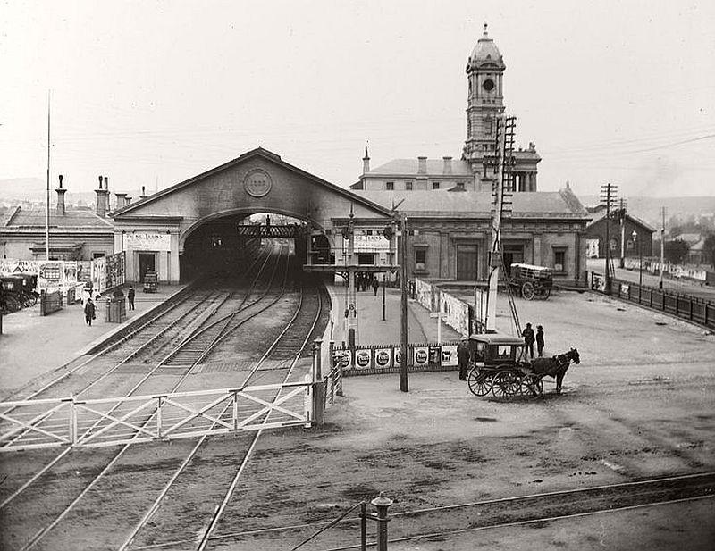 Ballarat railway station, ca. 1800s