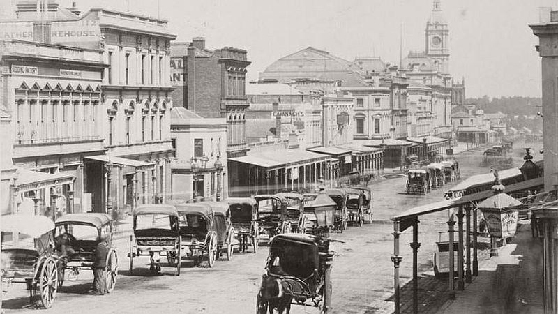 Swanston Street, Melbourne, 1872