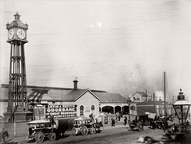 The Melbourne Terminus in the mid 1800s