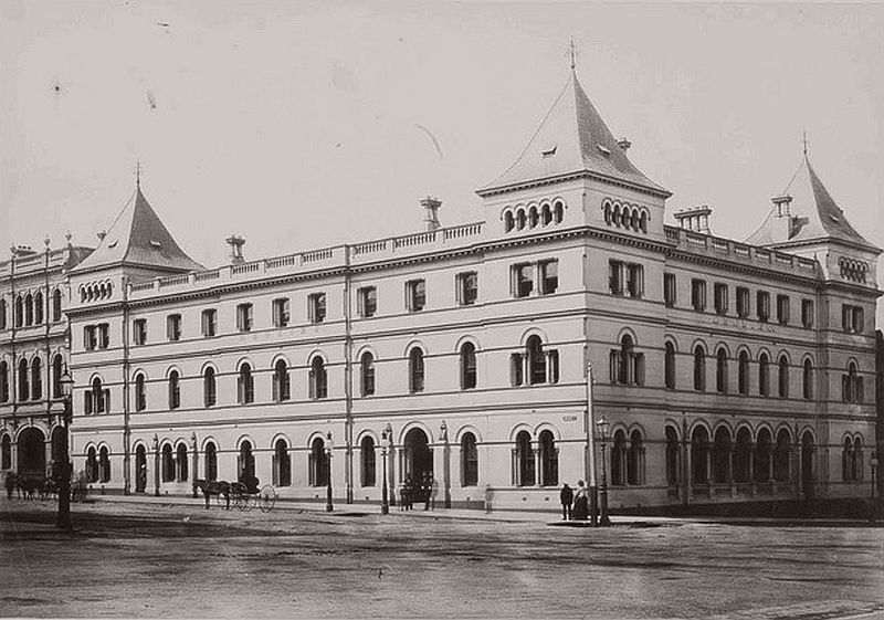 The Menzies Hotel, corner Bourke and William Streets, Melbourne, ca. 1870s