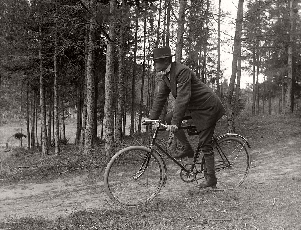 Carl Nöjd, cyclist, 1914.