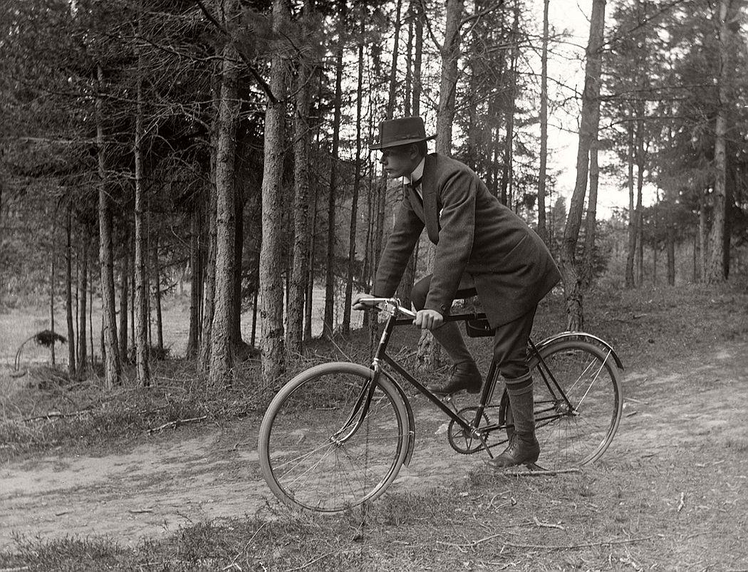 Carl Nöjd, cyclist, 1914.