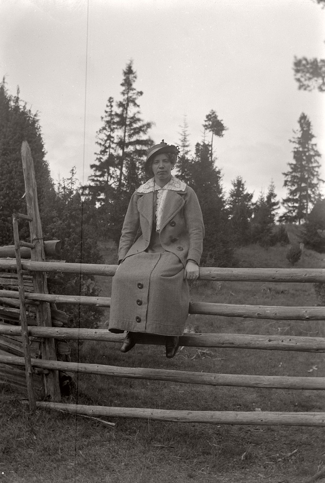 Maja Fransson on the fence.
