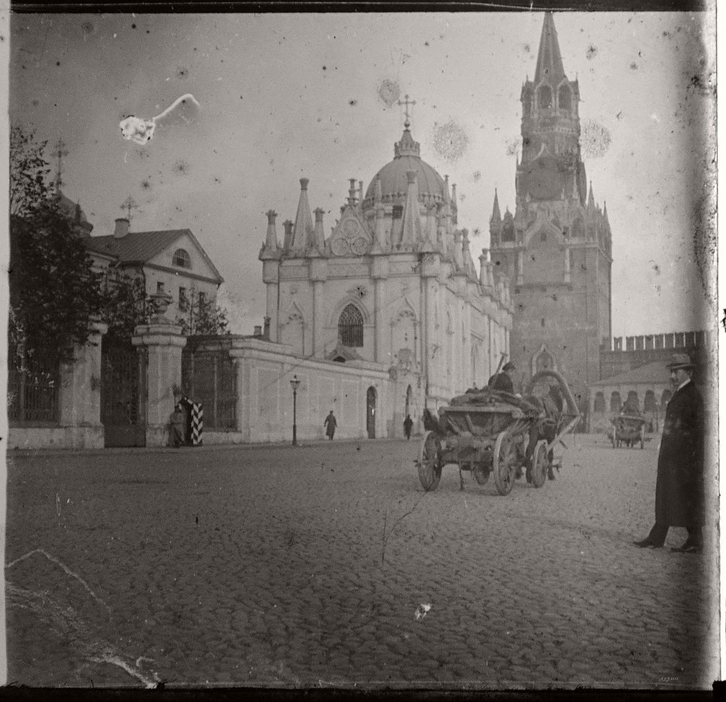 Spassky Tower & St Catherines, Kremlin Moscow, ca. 1910s