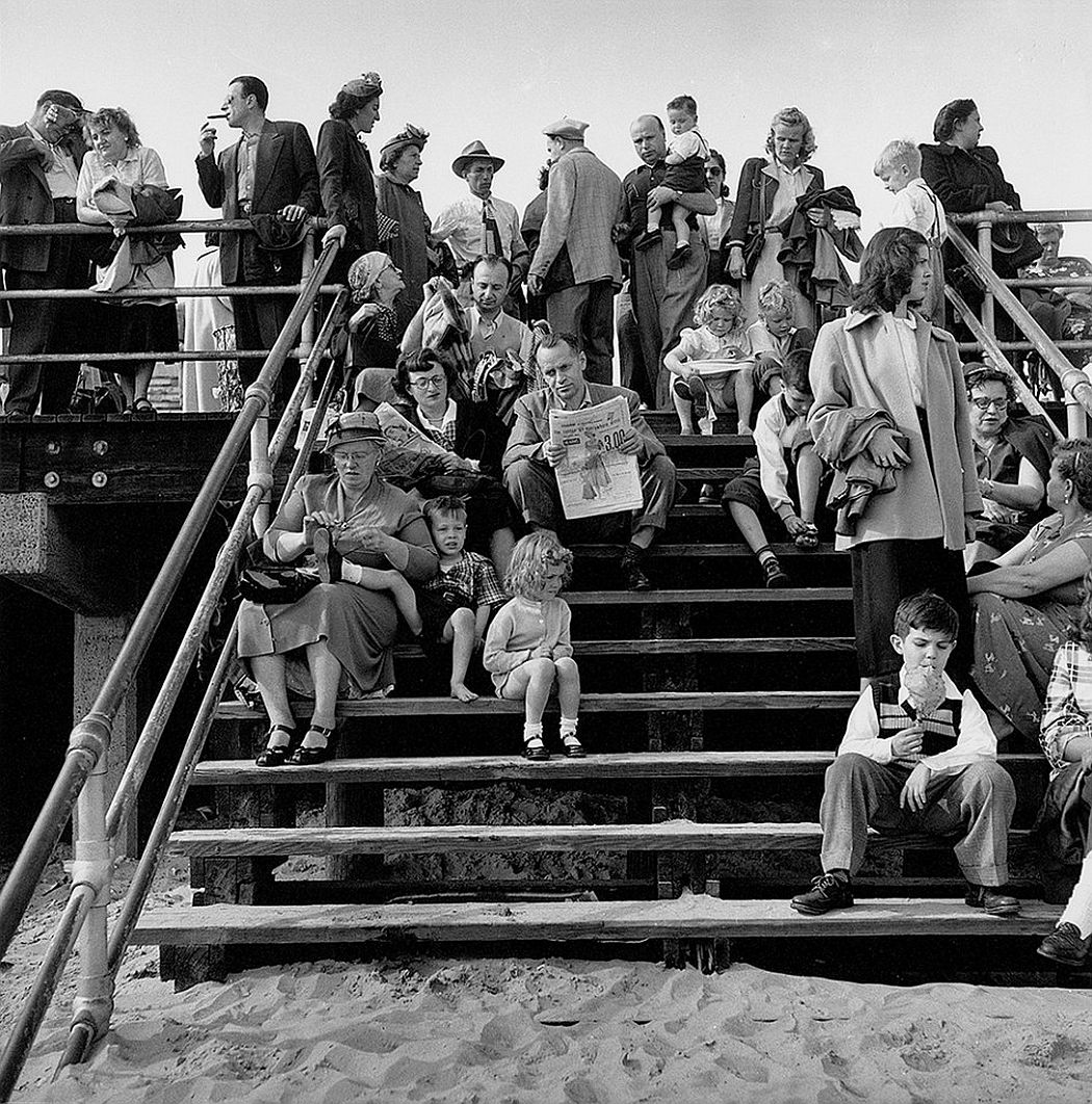 Harold Feinstein  Boardwalk Stairs, 1950