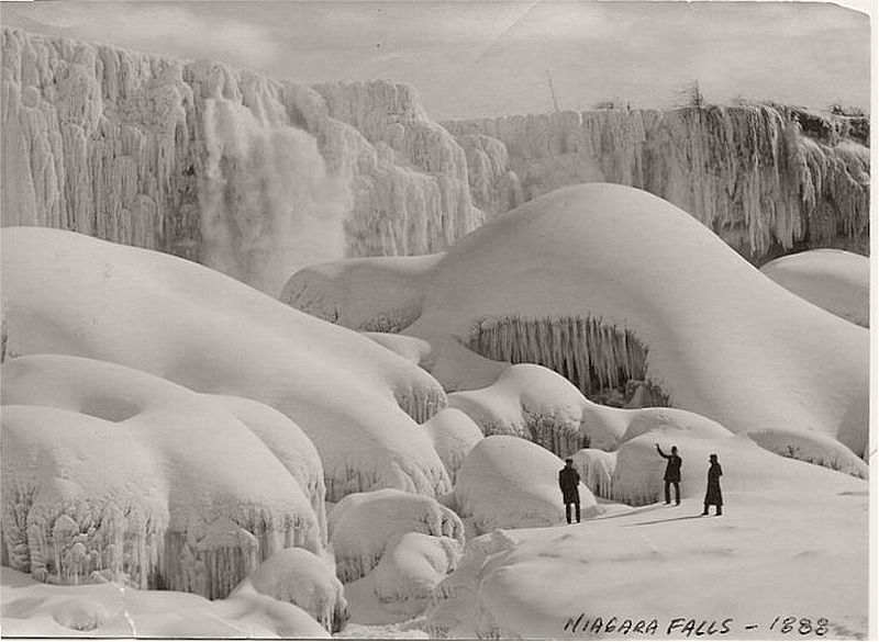 Ice conditions at Niagara Falls during the winter of 1888