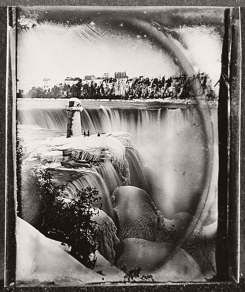 Niagara Falls during the winter, ca. 1850s
