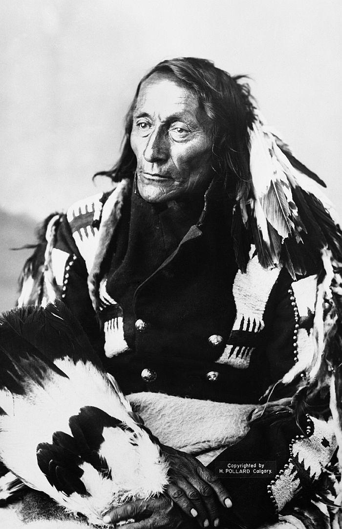 Bobtail, Cree chief, Alberta, 1886