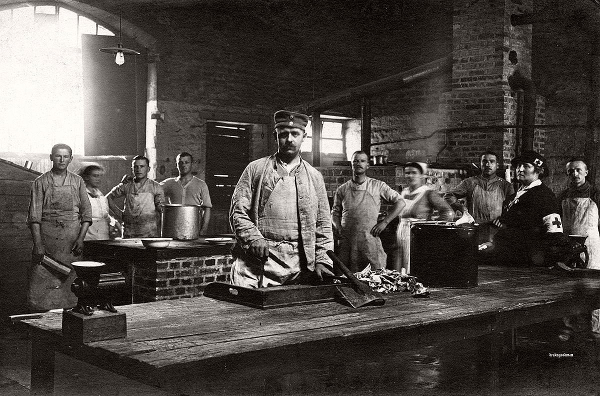 Interior, German military kitchen, ca. 1917. # Brett Butterworth