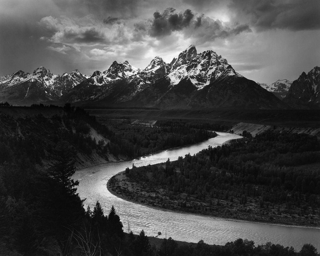 Ansel Adams. Snake River, Grand Teton National Park, WY, 1942. Images printed courtesy of the Ansel Adams Publishing Rights Trust