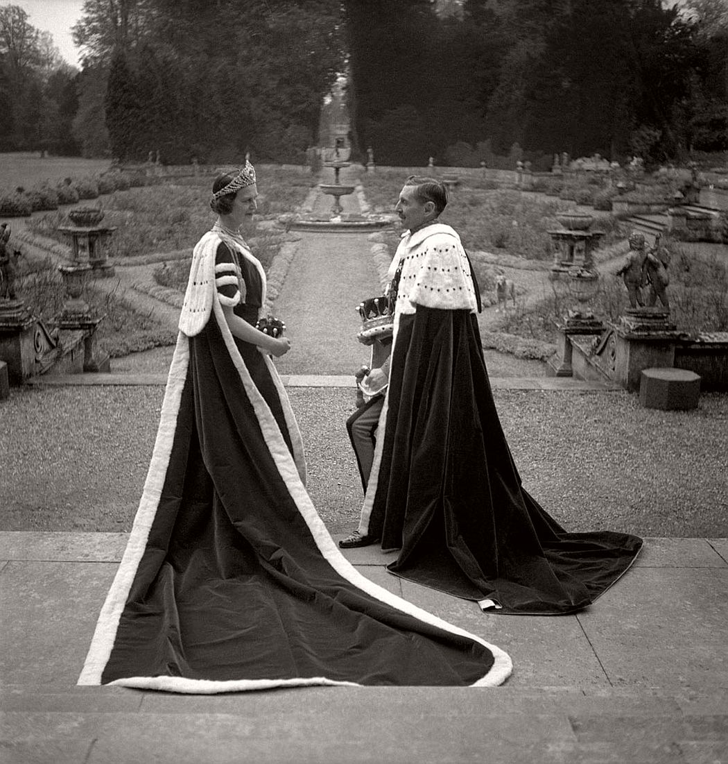The 15th Earl and Countess of Pembroke dressed for the coronation of George VI 1937 © Cecil Beaton Archive, Sotheby's
