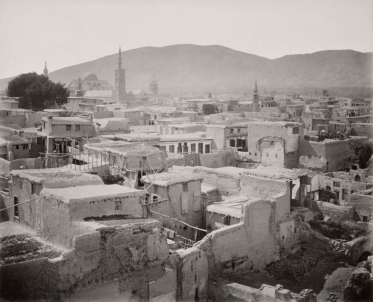 Francis Bedford (1815-94) (photographer) Damascus – from a minaret in the Christian quarter [Syria] 30 Apr 1862
