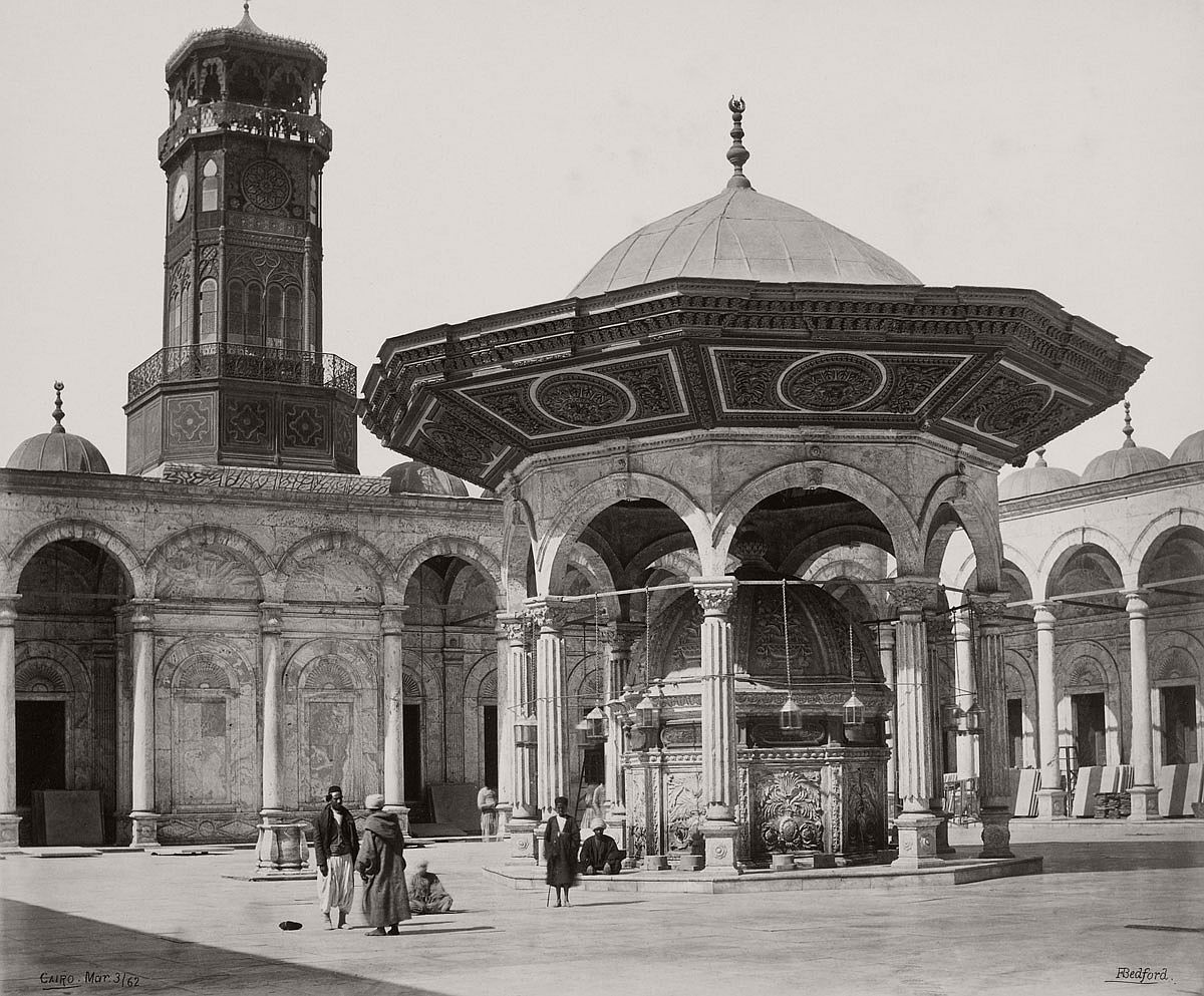 Francis Bedford (1815-94) (photographer) Fountain in the Court of the Mosque of Mehemet Ali [Mosque of Muhammad Ali, Cairo] 3 Mar 1862