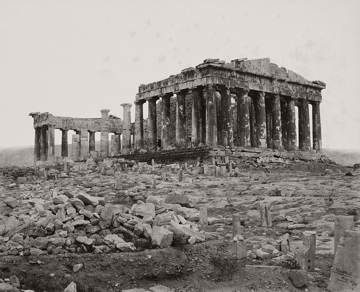 Francis Bedford (1815-94) (photographer) South West View of the Parthenon [on the Acropolis, Athens, Greece] 31 May 1862
