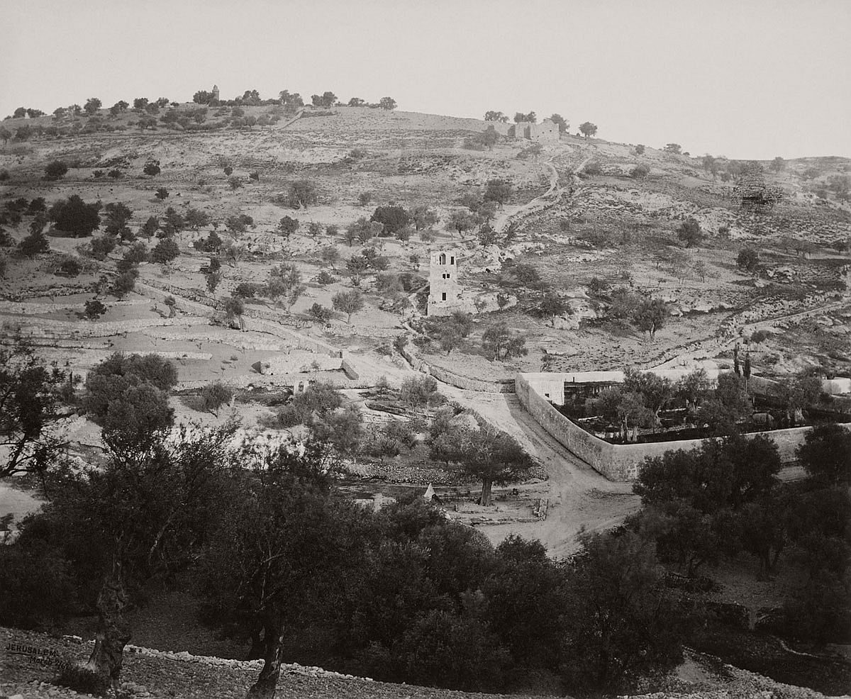 Francis Bedford (1815-94) (photographer) The Mount of Olives and Garden of Gethsemane [Jerusalem] 2 Apr 1862