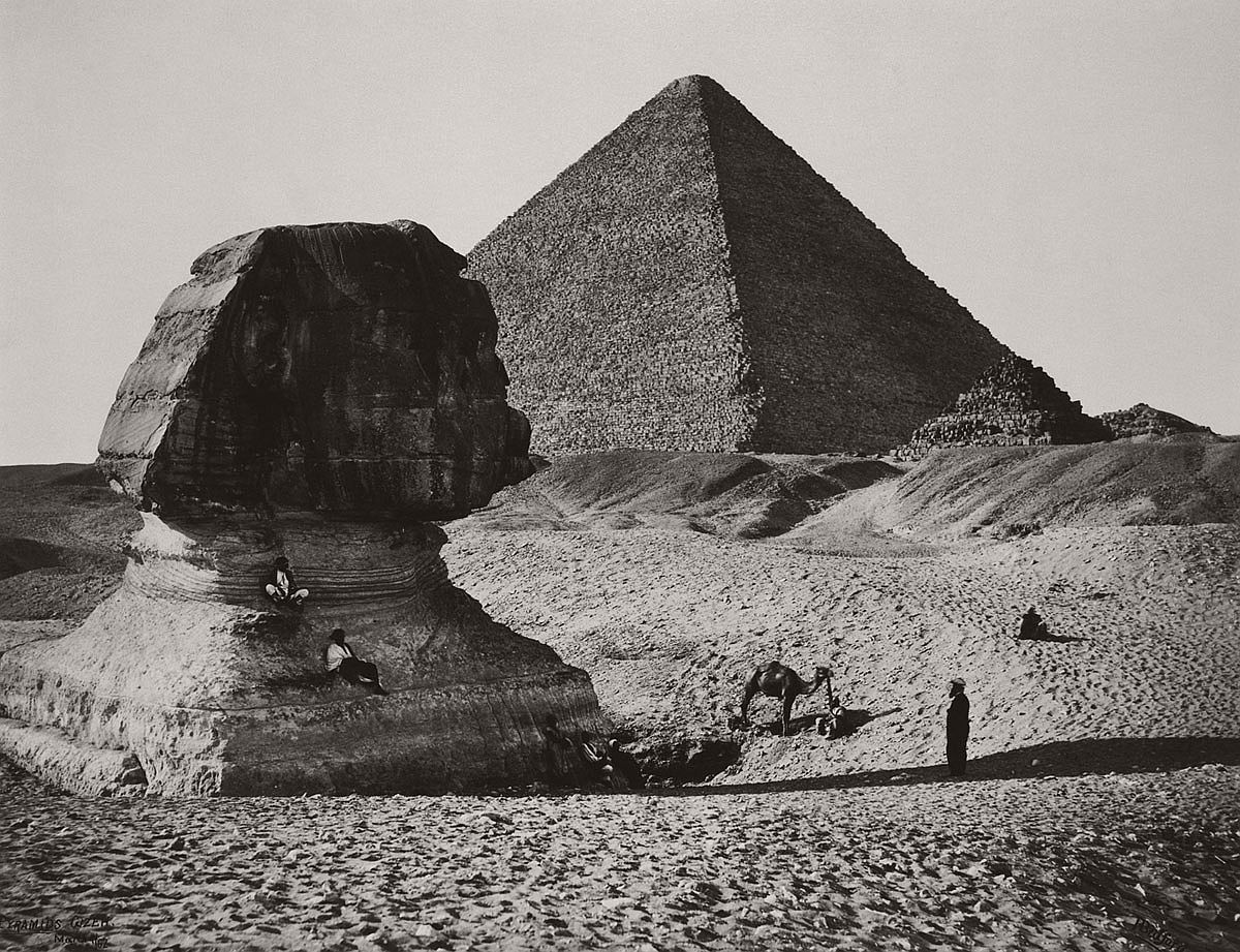 Francis Bedford (1815-94) (photographer) The Sphinx, the Great Pyramid and two lesser Pyramids, Ghizeh, Egypt 4 March 1862