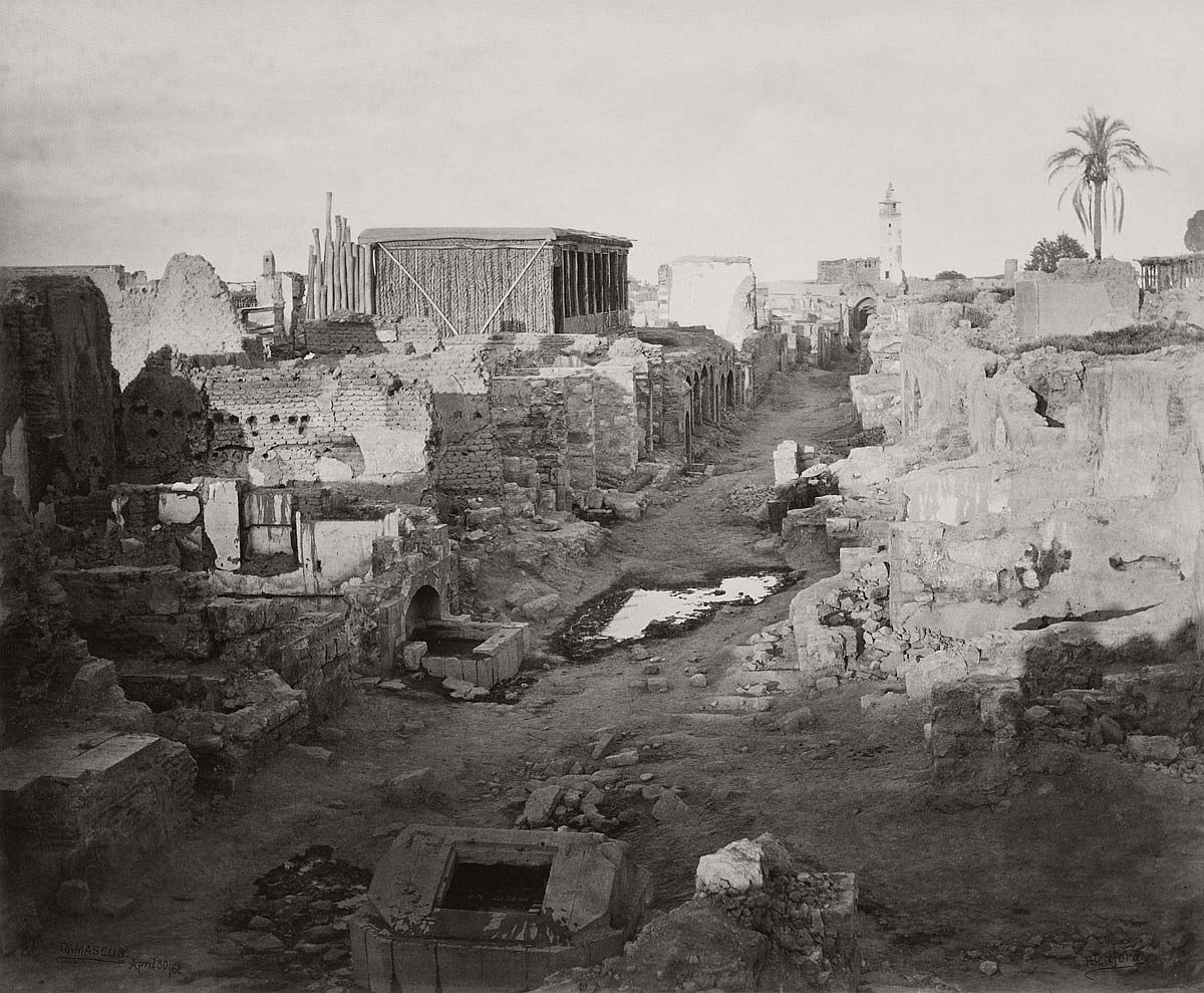 Francis Bedford (1815-94) (photographer) The Street called Straight, Damascus 30 Apr 1862