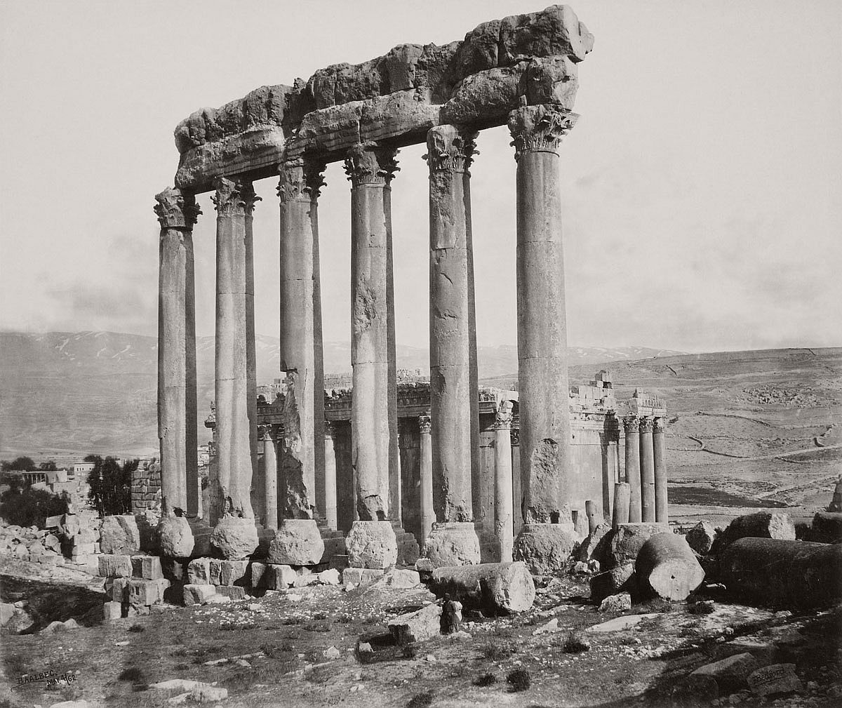 Francis Bedford (1815-94) (photographer) The Temple of the Sun and Temple of Jupiter [Baalbek, Lebanon] 4 May 1862