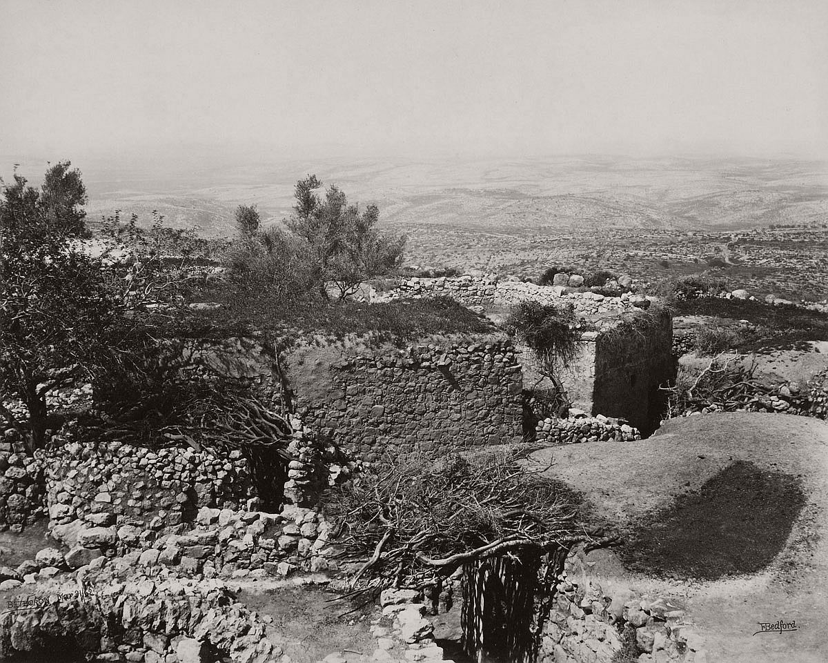 Francis Bedford (1815-94) (photographer) Upper Bethoron [Beit Ur al-Foqa and the Valley of Ajalon] 31 Mar 1862