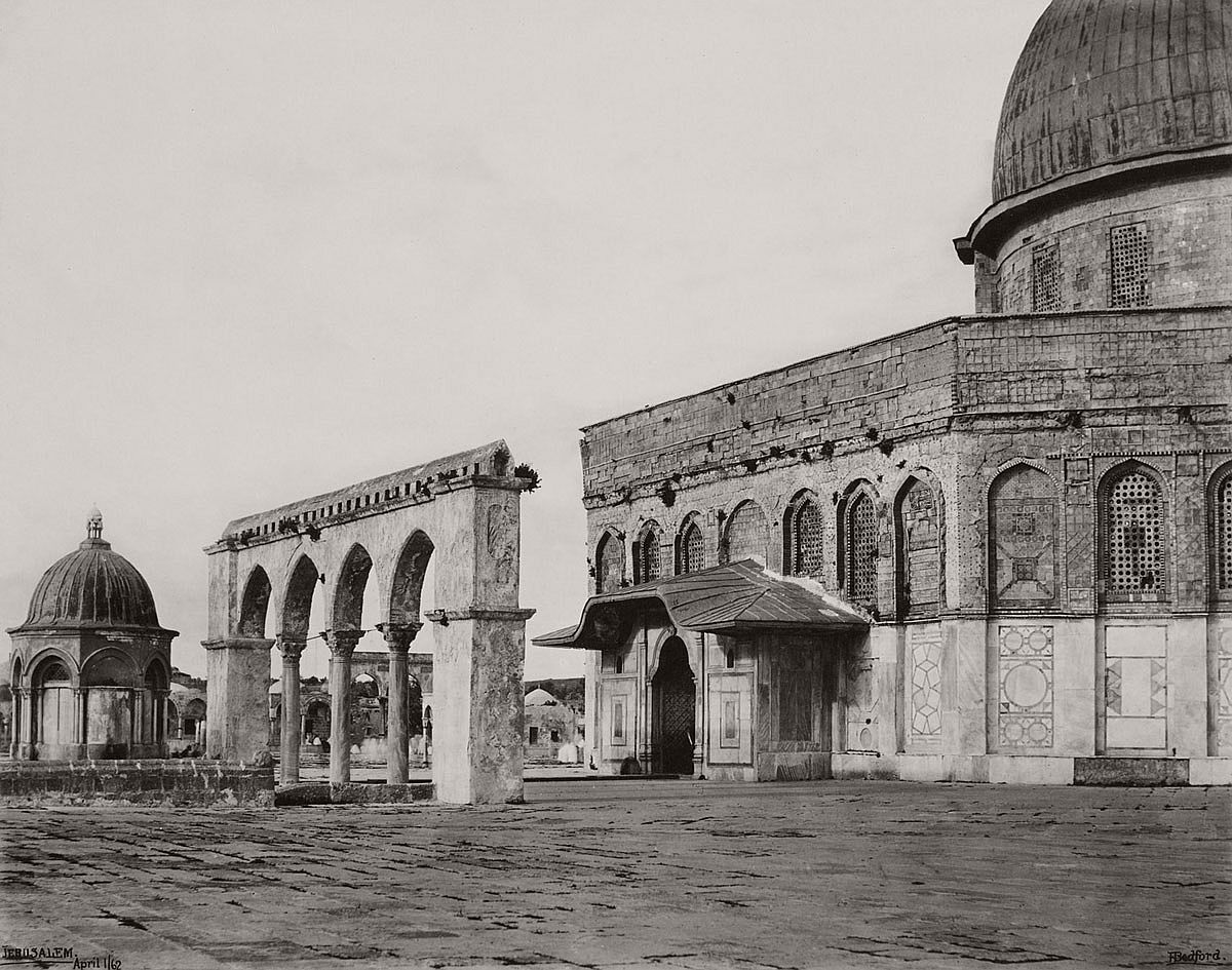 Francis Bedford (1815-94) (photographer) West Front of the Mosque of Omar [Dome of the Rock, Jerusalem] 1 Apr 1862