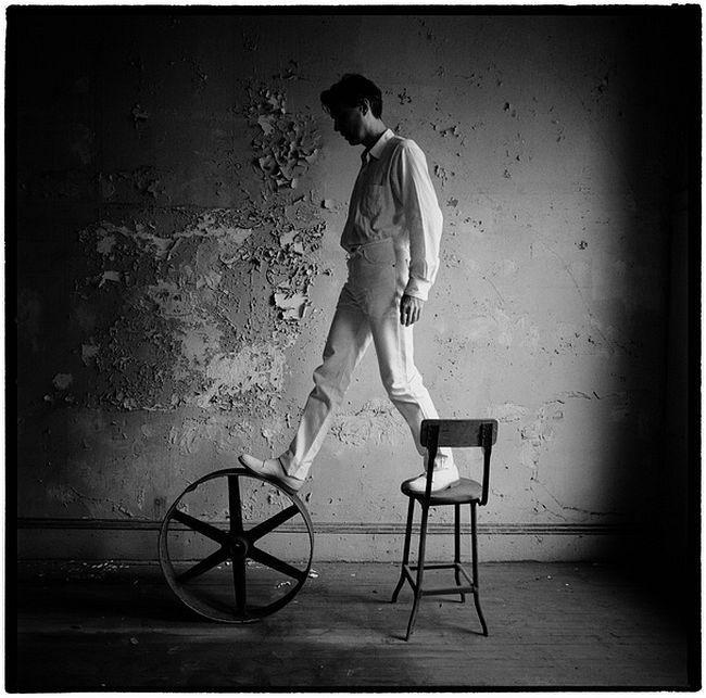 Karen Kuehn  David Byrne • 1991 • NYC • Request Music Magazine, 1991
