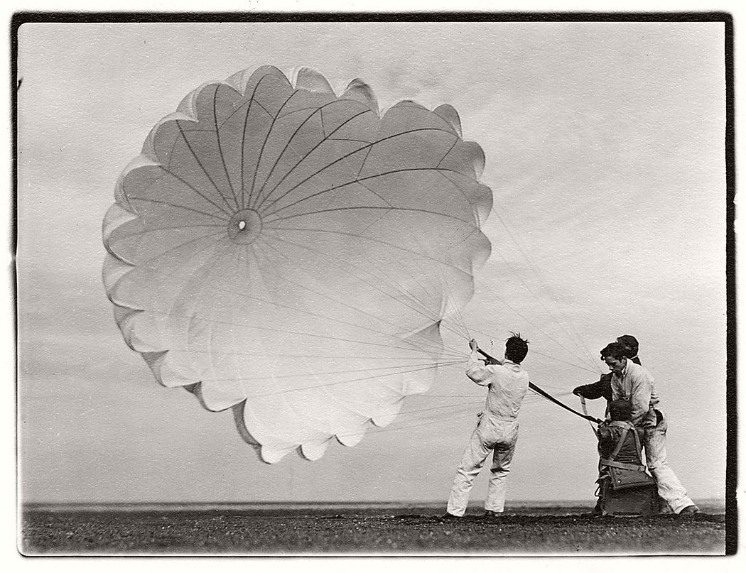 Margaret Bourke-White  Untitled #76 (Twenty Parachutes), 1937