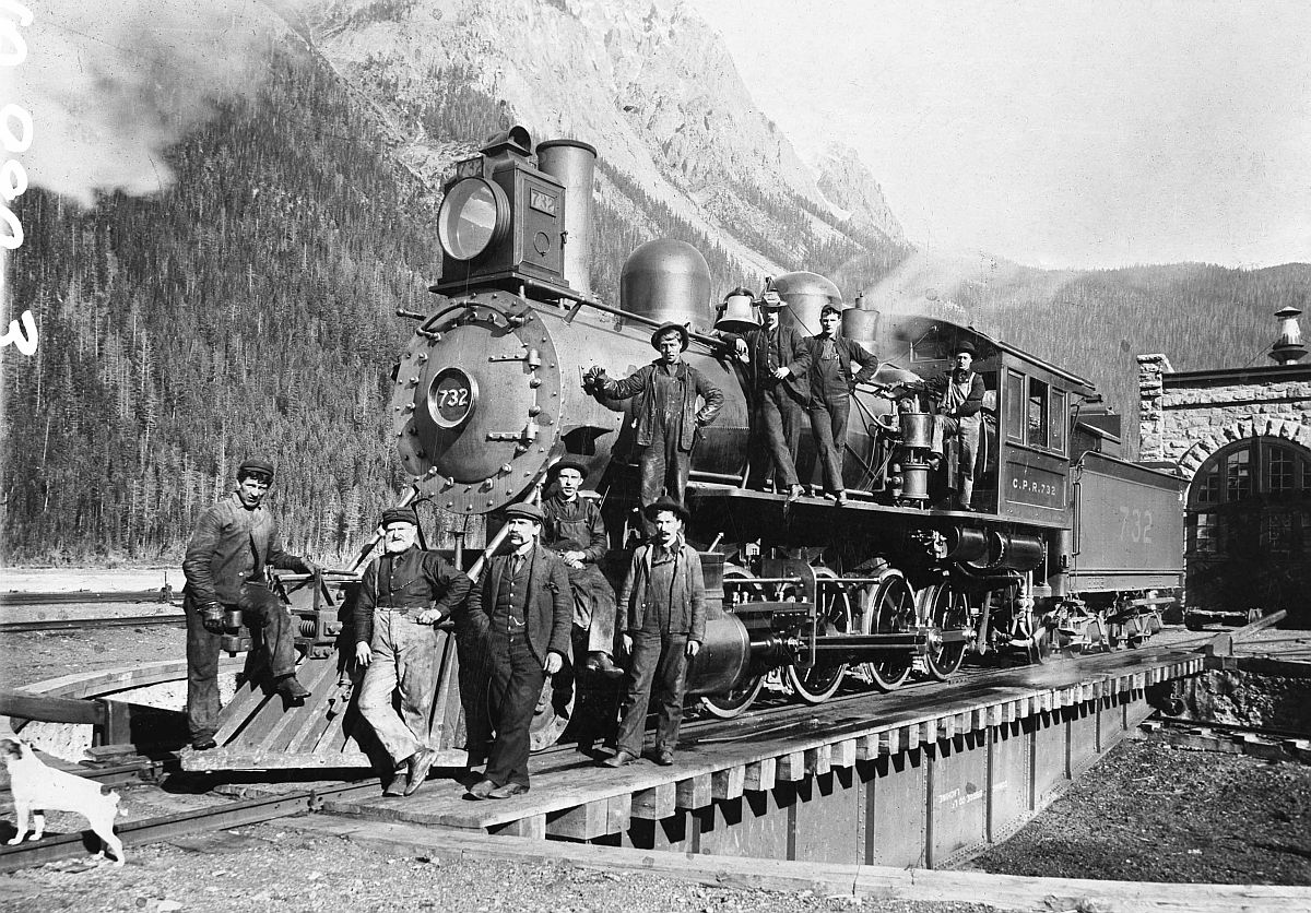 Canadian Pacific Railway locomotive in Rockies. Date: [ca. 1890s]