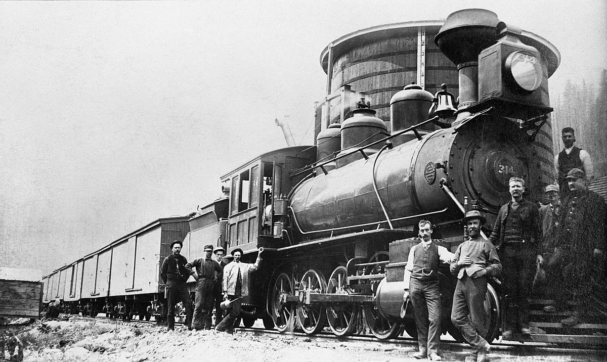 Canadian Pacific Railway engine 314 at Medicine Hat, Alberta. Date: [ca. 1885-1894]