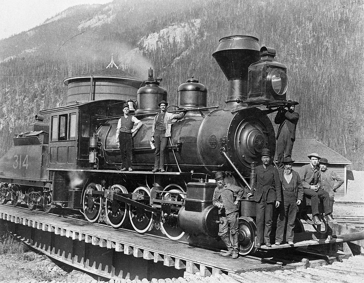 Canadian Pacific Railway engine 314, Field, British Columbia. Date: [ca. 1890-1897]