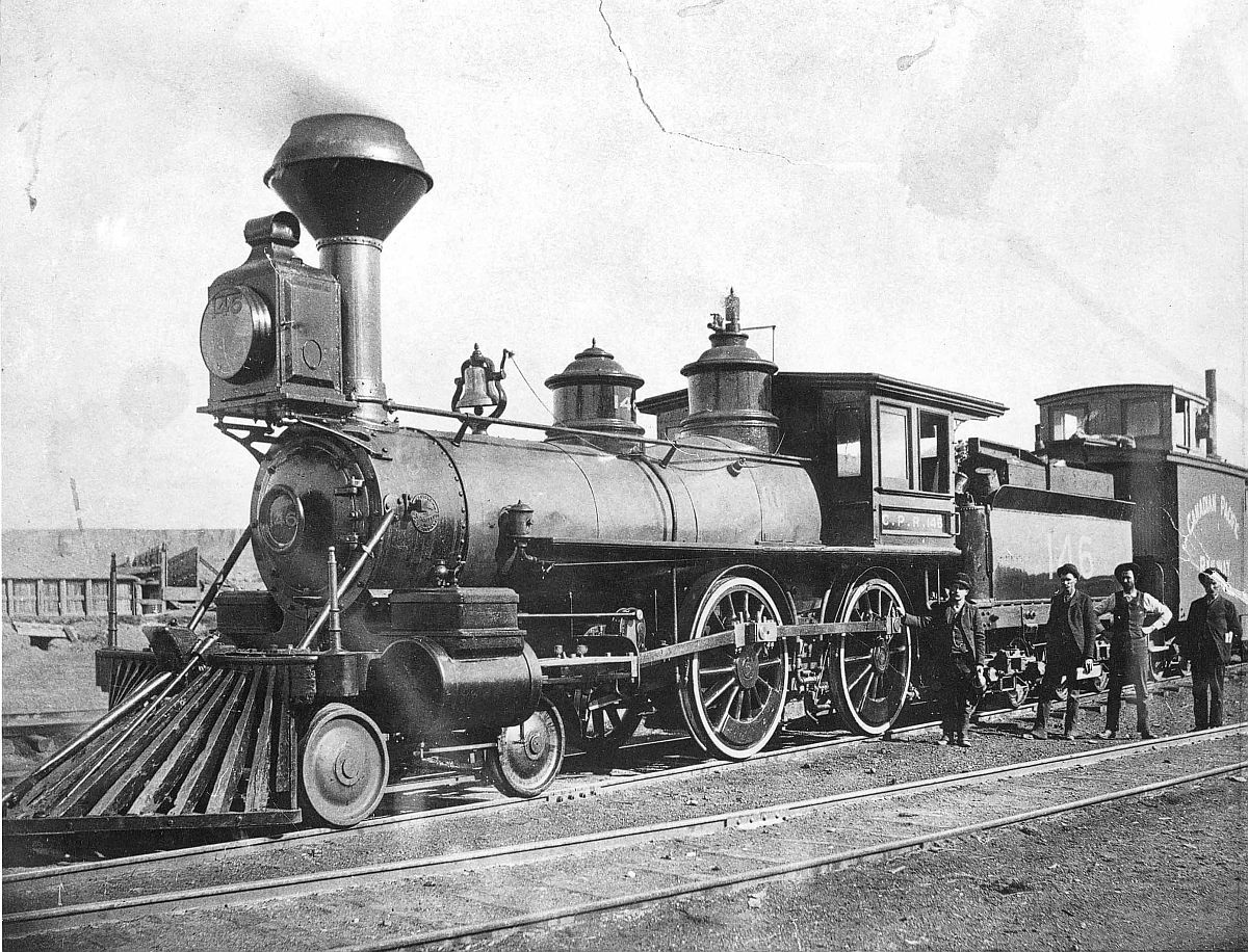Canadian Pacific Railway engine 146 at Medicine Hat, Alberta. Date: [ca. 1890s]