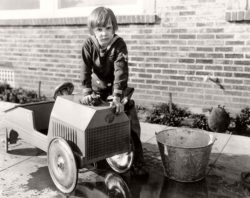Vintage: Kids and their Pedal Cars (1920s-1950s)