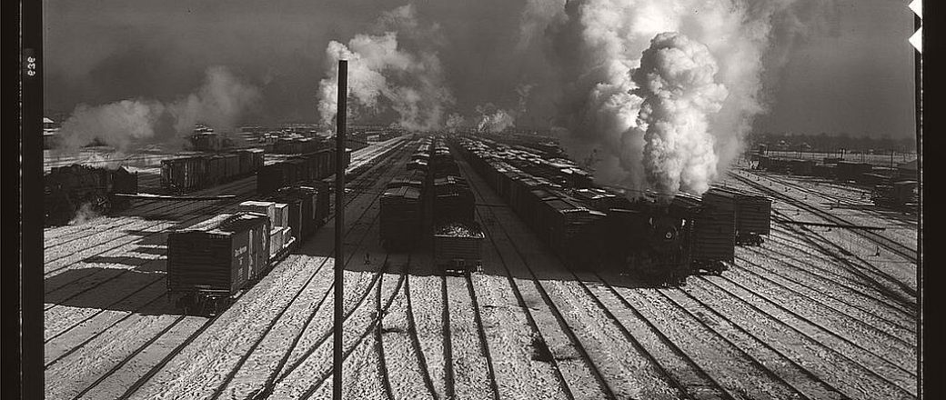 Vintage: Railway in Chicago (1940s)