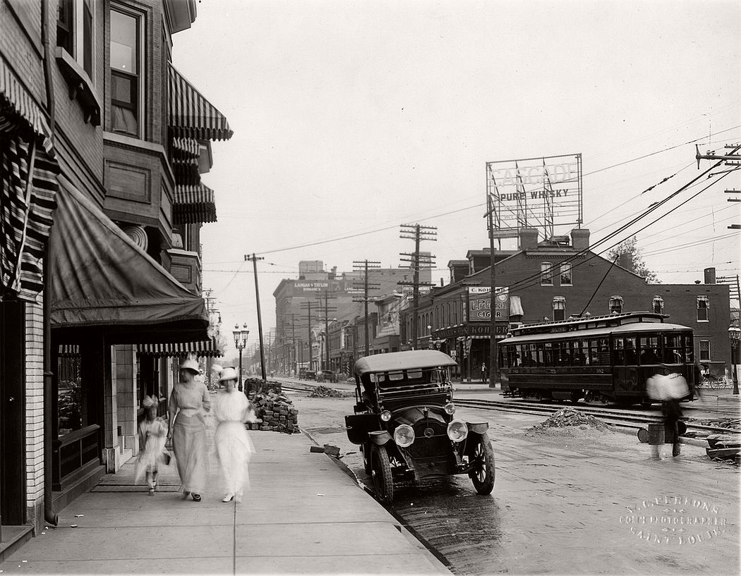 Delmar Boulevard from Kingshighway, 1914
