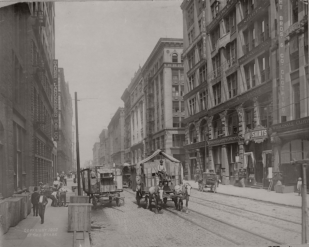 Washington Avenue west from Eighth Street, 1903