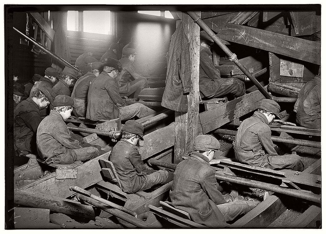 Coal breakers, South Pittston, Pennsylvania, January 1911