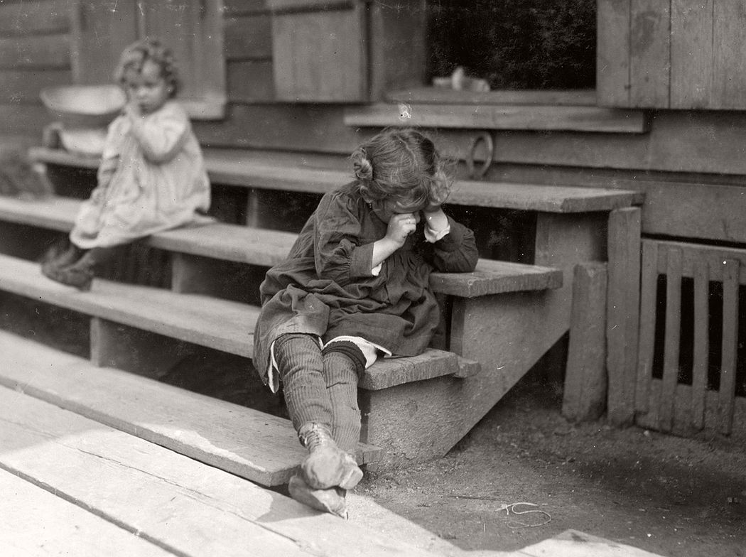 5-year-old after day's work, was tired and refused to be photographed, Biloxi, Mississippi, 1911