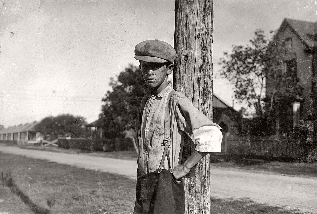 14-year-old boy has been working in cotton mills for 6 years, Cuero, Texas, 1913