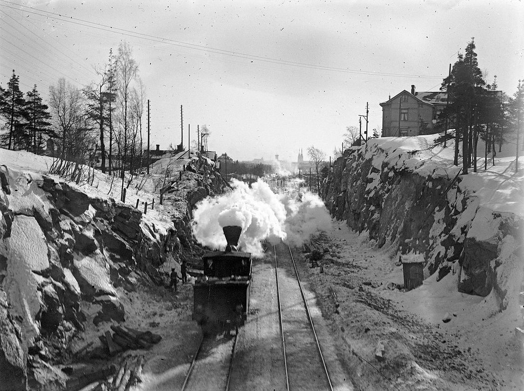 Locomotive in Linnunlaulu, towards Helsinki